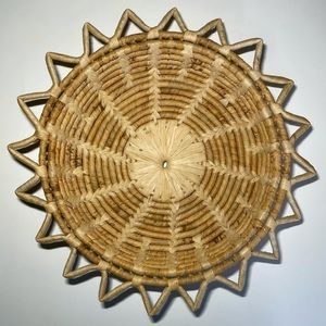 Boho Wicker Basket Table Tray Decor